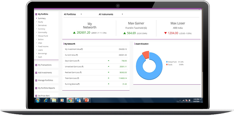 portfolio tracker multi asset classes investment tracking platform
